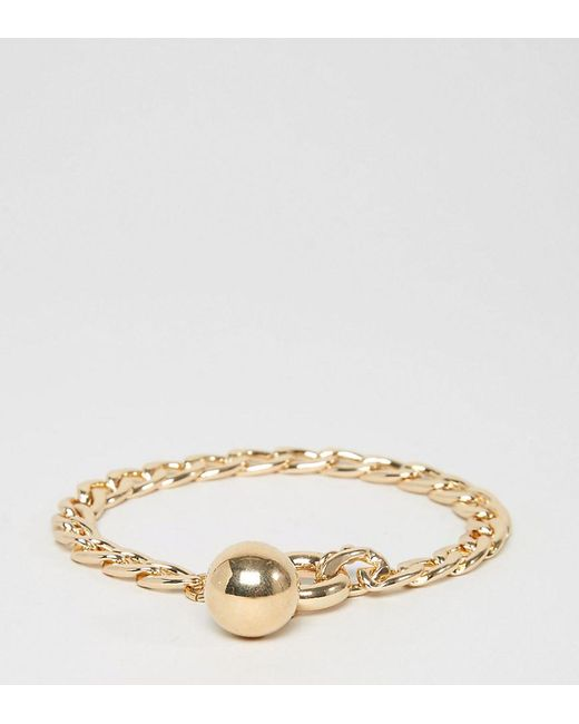 ASOS | Metallic Chain And Ball Charm Bracelet | Lyst