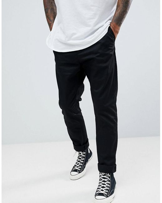 bcc6f111459a Lyst - Weekday Forest Chinos Black in Black for Men