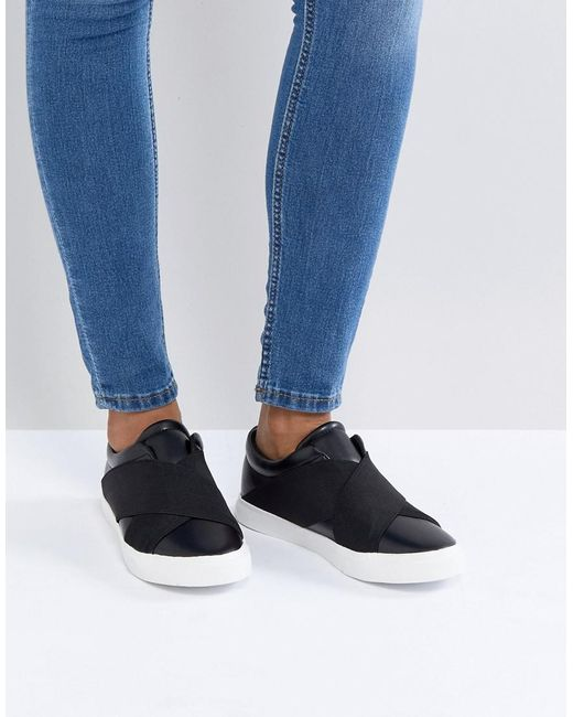 London Rebel - Black Elastic Trainer - Lyst
