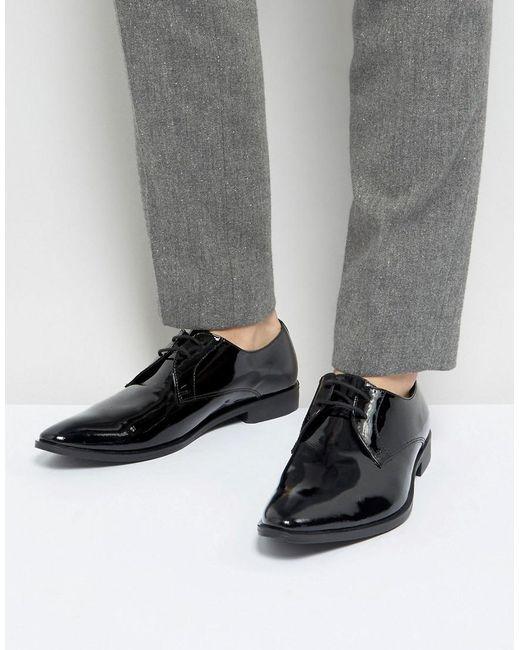 Franc Chaussures Derby Wright En Cuir Verni Noir - Z9hrGUYXBh