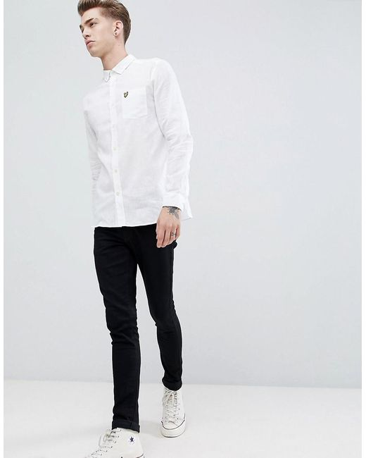 Lyle & Scott - White Cotton Linen Shirt for Men - Lyst