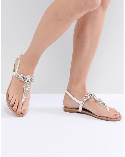 Faith Jile Embellished Flat Sandals