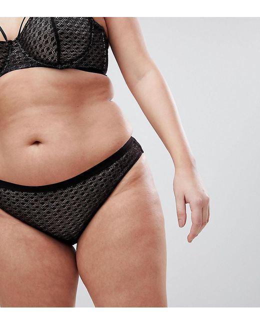 ASOS - Black Gianna Diamond Lace Hipster Bikini Bottom - Lyst