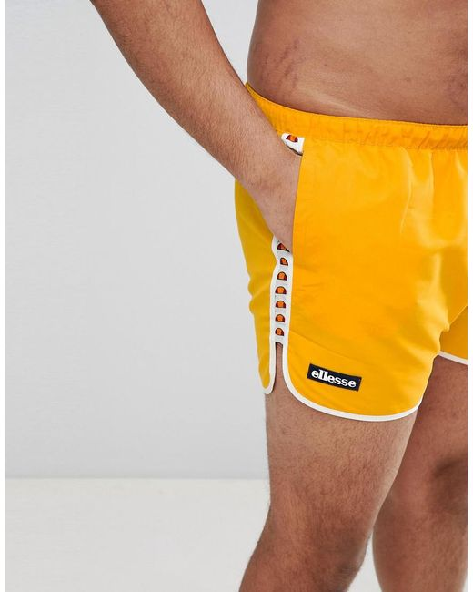 PLUS Swim Shorts with Taping Exclusive In Orange - Orange Ellesse Official Site Cheap Online ubW07p