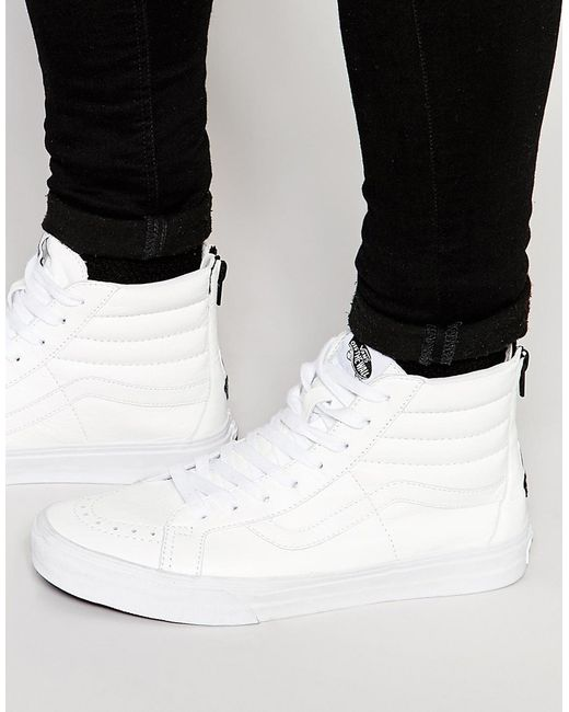 Vans | Sk8-hi Reissue Zip Sneakers In White V4kyii9 - White for Men | Lyst