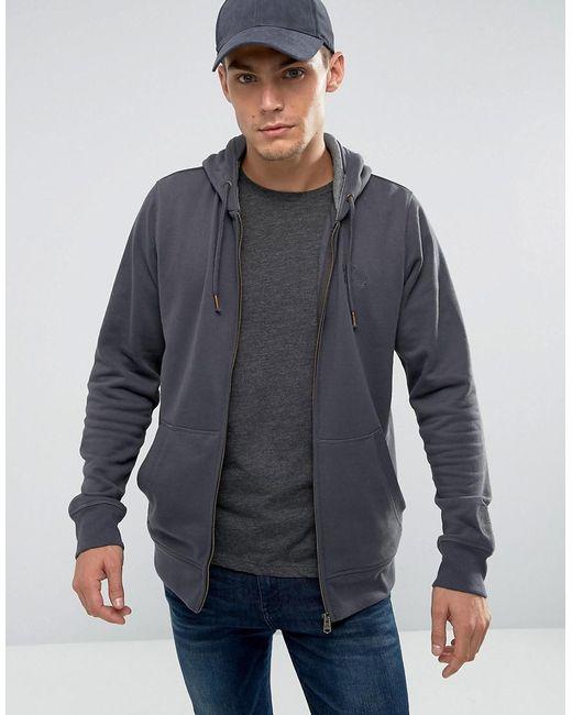 Tokyo Laundry - Gray Brushback Zip Thru Hoodie for Men - Lyst