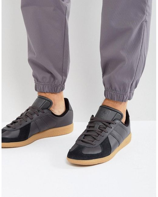 lyst adidas originals kg armee ausbilder in schwarz bz0580 in schwarz