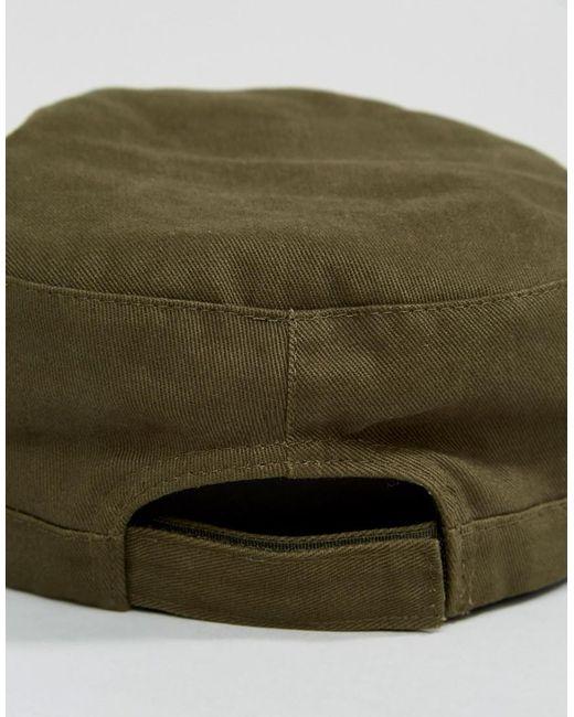 Cotton Railroad Hat In Khaki - Green Pretty Green PwCy1IxB