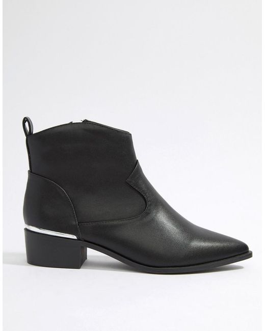 d8a12b99ca88 London Rebel - Black Lonodon Rebel Clean Western Ankle Boots - Lyst ...