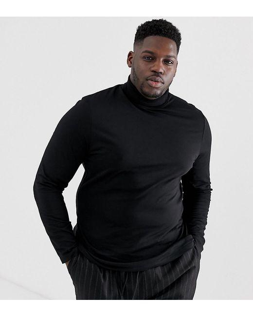 2b830628 ASOS Plus Long Sleeve Roll Neck In Black in Black for Men - Lyst