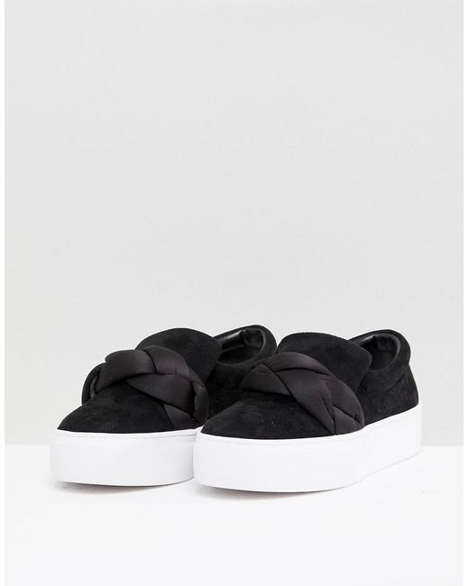 Lost Ink Oversized Braid Flatform Sneakers Q0GFcts