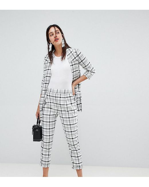 meticulous dyeing processes choose newest online here Women's Black Co-ord Grid Check Trousers