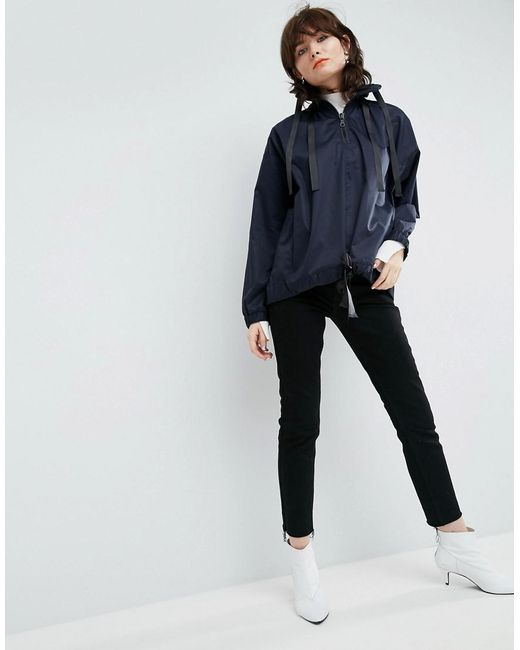 ASOS Ruched Top with Sport Zip Sale Looking For Cheap Wiki hNQtm