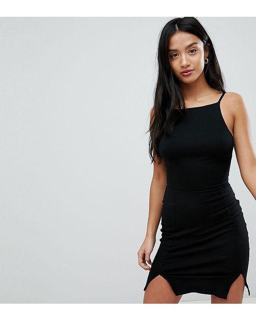 ASOS - Black Bodycon Mini Dress With Strappy Back - Lyst