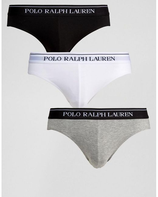 Polo Ralph Lauren - Multicolor Briefs In 3 Pack for Men - Lyst
