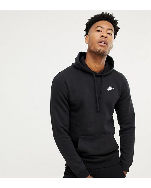0f349bda9696 Nike Tall Pullover Hoodie With Swoosh Logo In Black in Black for Men ...