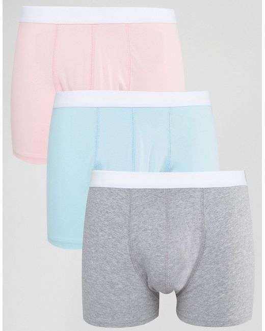 ASOS | Multicolor Trunks In Pastel 3 Pack Save for Men | Lyst