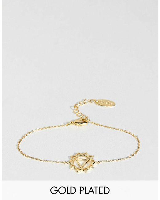 Orelia - Metallic Gold Plated Chakra Bracelet - Lyst