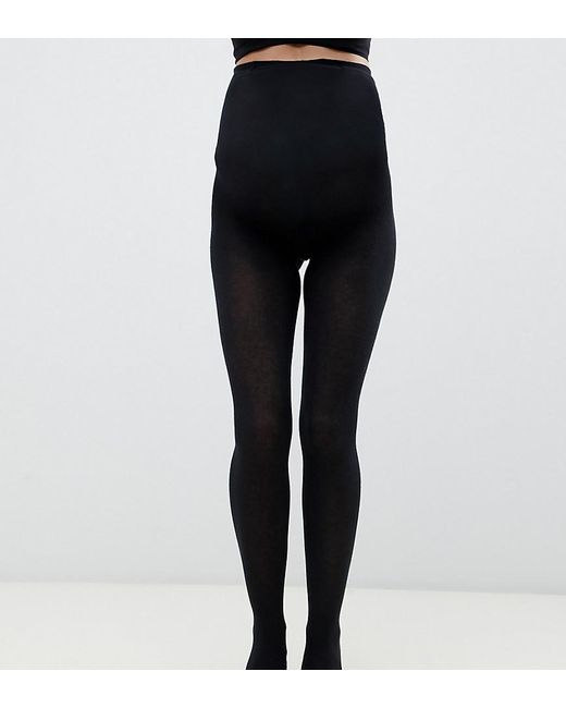 bebe3a9ce ASOS - Black Asos Design Maternity Supersoft Tights With Supportive Panel -  Lyst ...