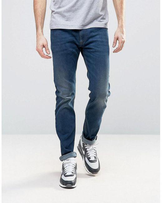 af709eeb DIESEL - Blue Thommer Stretch Slim Fit Jeans In 084bu Dark Wash for Men -  Lyst ...