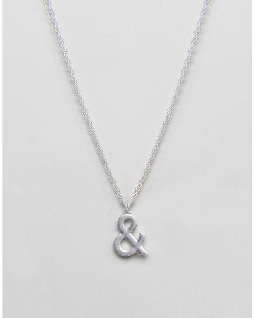 ASOS | Metallic X Glaad Necklace for Men | Lyst