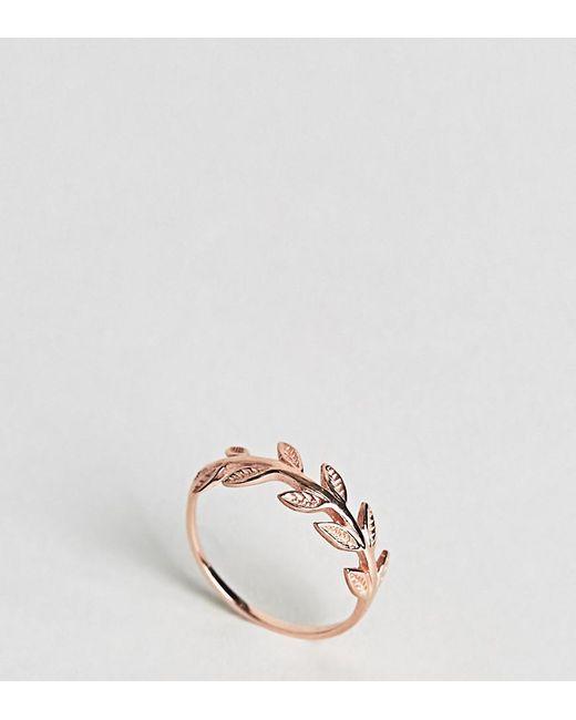 Kingsley Ryan - Metallic Rose Gold Plated Leaf Ring - Lyst