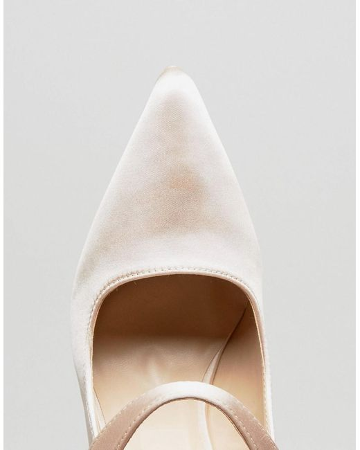 Satin Pearl Detail May Jane Heeled Shoes - Nude satin True Decadence New Arrival Cheap Price X4GT0QKL1