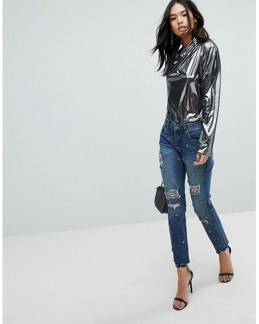 Blank NYC Charm Skinny Jean with Jewel Embellishment - Blue Blank NYC 6vQ4nJi6nv