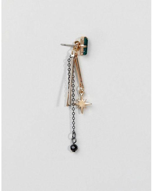Statement Multi Star Drop Earrings - Crystal Orelia DR15Z097