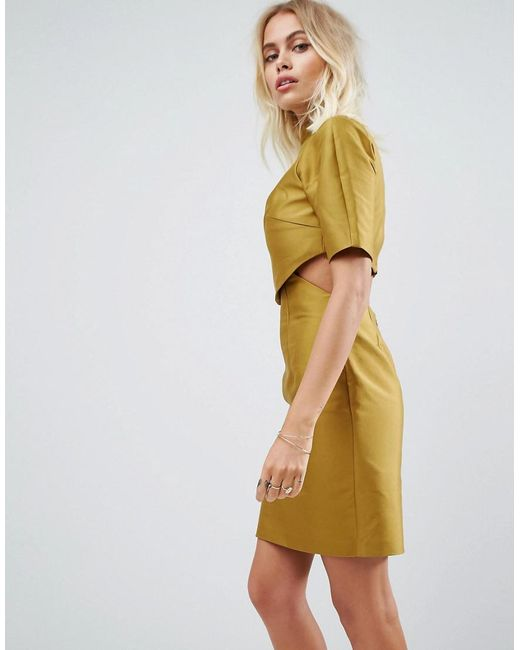 ASOS | Green Two Piece Grown On Neck Mini Dress | Lyst