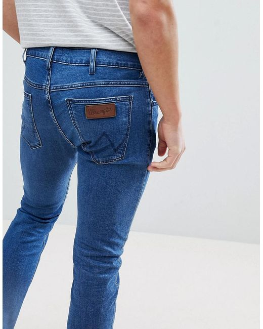 Bryson Skinny Jeans Made of Stone - Blue Wrangler Best Place For Sale Cheap Sale Sneakernews pBL3Fj1