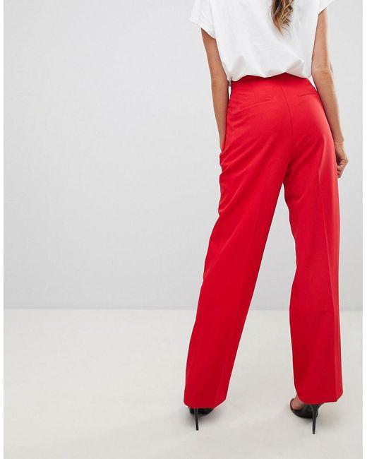 Cost Cheap Online Enjoy Cheap Online ASOS Wide Leg Trouser With Zip Front DiBs1fga