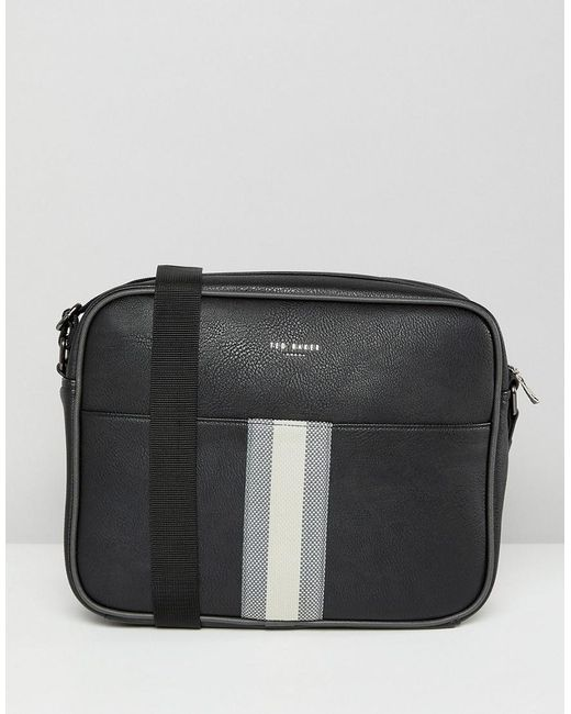 Ted Baker - Black Delano Webbing Messenger Bag for Men - Lyst ...