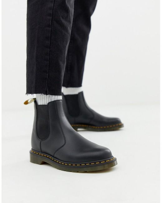 acbfe7770 Dr. Martens - Vegan 2976 Chelsea Boots In Black Smooth for Men - Lyst ...
