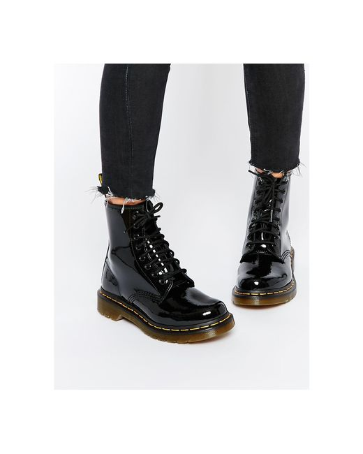 dr martens modern classics 1460 patent 8 eye boots in black lyst