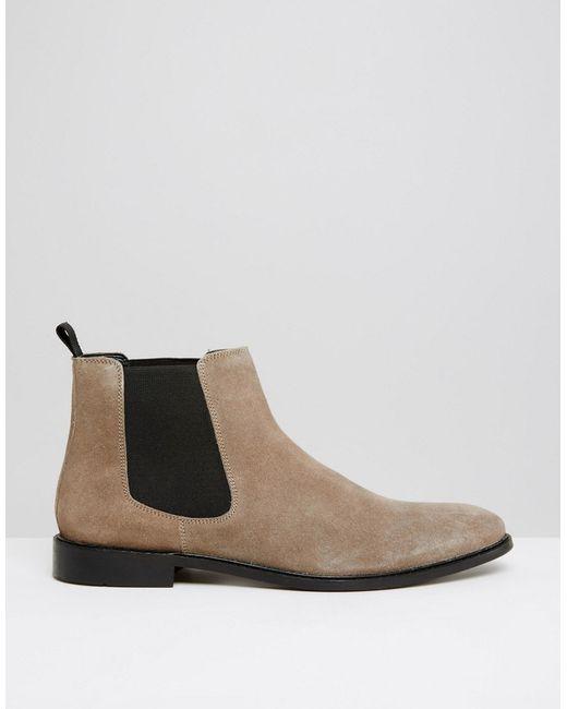 Dune Mens Grey Suede Shoes