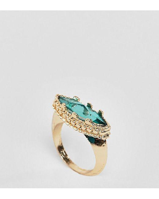 ASOS - Metallic Asos Design Curve Opulent Jewel Ring - Lyst