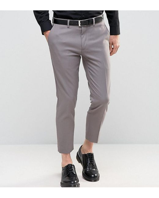 Only & Sons | Gray Skinny Cropped Trousers for Men | Lyst