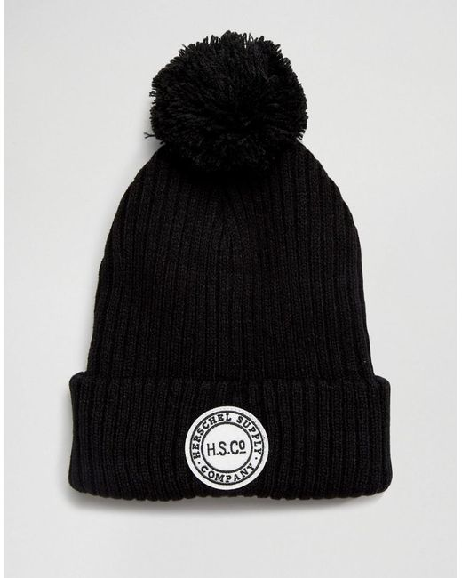 Herschel Supply Co. | Sepp Bobble Beanie In Black for Men | Lyst