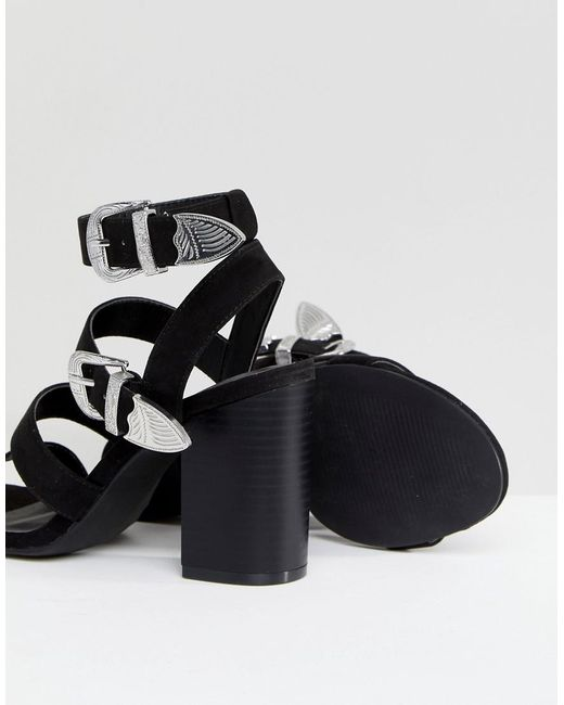 outlet official site New Look Multi Strap Western Buckle Block Heel Sandal discount looking for outlet 2014 QDAQYUw