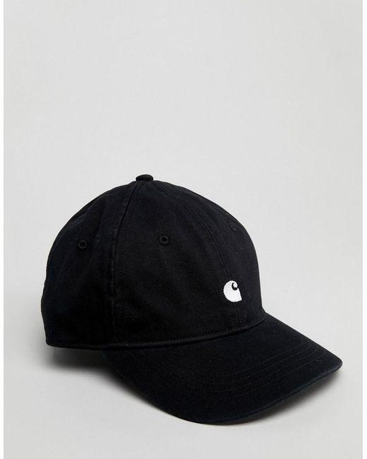 5e394eb9930 Carhartt WIP Madison Baseball Cap In Black in Black for Men - Lyst
