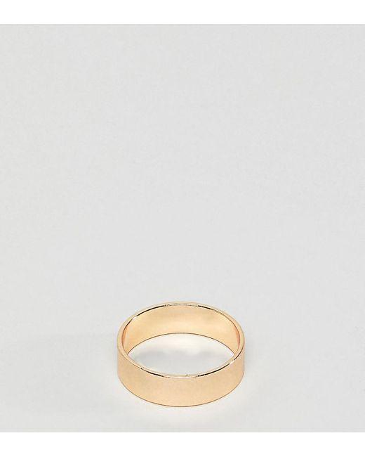ASOS - Metallic Plus Gold Ring for Men - Lyst