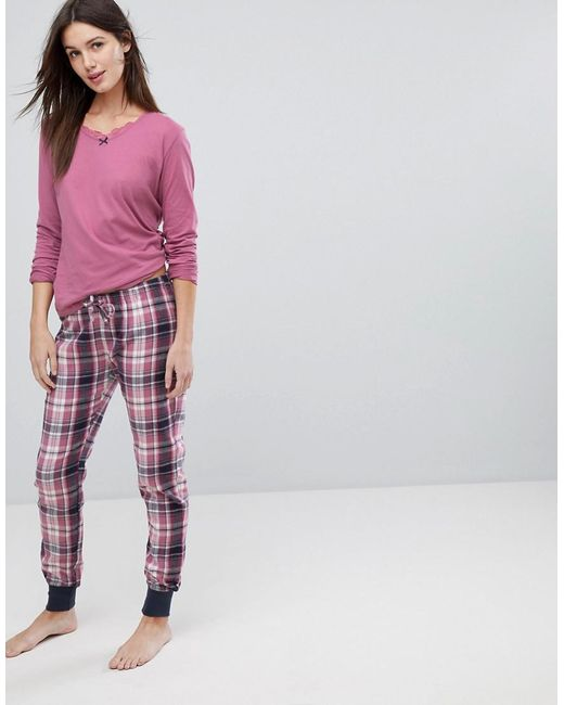 Esprit - Blue Check Pyjama Set - Lyst