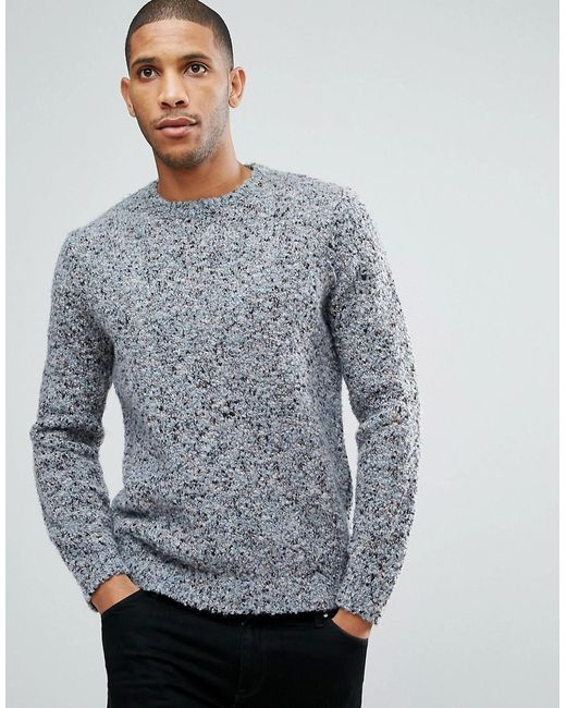 ASOS DESIGN - Asos Heavyweight Textured Jumper In Pale Blue for Men - Lyst