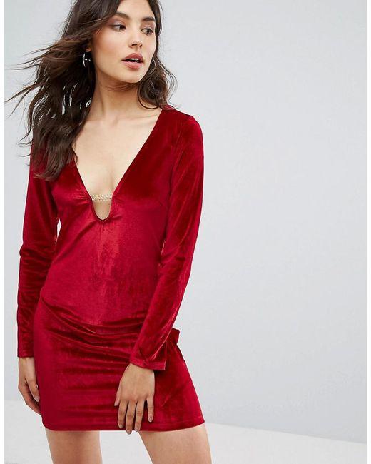 131b69b794c Oeuvre - Red Velvet Dress - Lyst ...