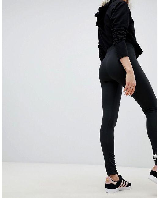 8e1f6ee68dd48 ... Adidas Originals - Originals Adicolor Trefoil Leggings In Black - Lyst
