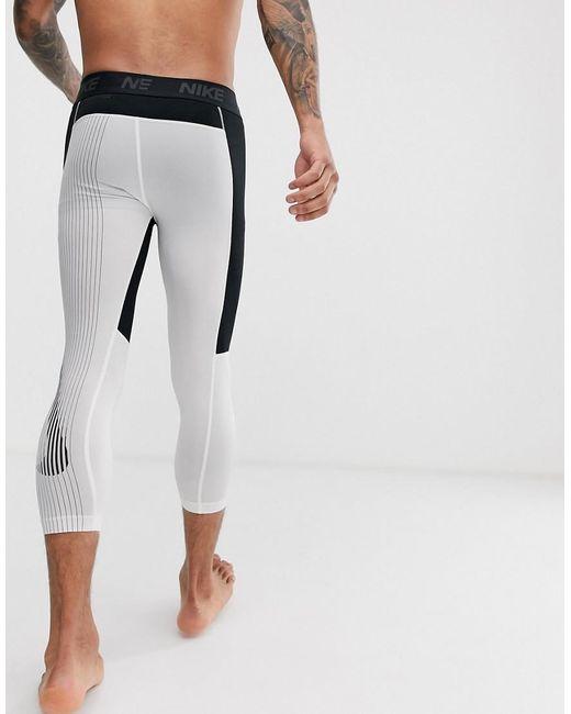 5b11b0ef6dee3 Nike Pro 3/4 Tights In Black in Black for Men - Lyst