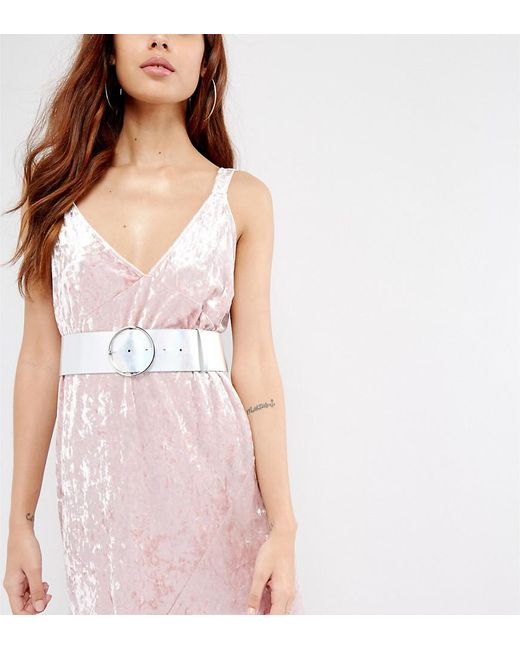 Glamorous | Multicolor Holographic Wide Waist Belt | Lyst