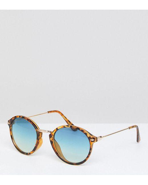 Lyst - Lunettes de soleil rondes verres bleus South Beach en coloris ... 8ad369af34db
