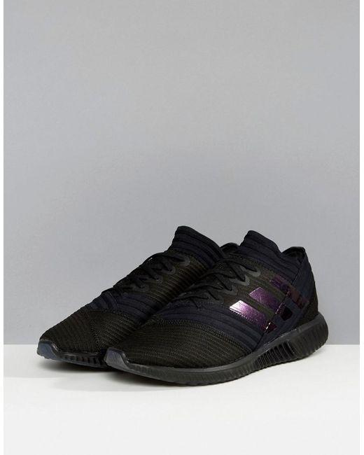 lyst adidas fußball nemiziz sneakers in schwarz bb3660 in schwarz für männer